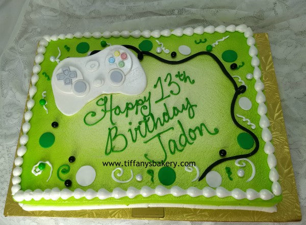 Prime Game Controller Cake Tiffanys Bakery Personalised Birthday Cards Cominlily Jamesorg