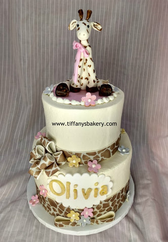 Giraffe Celebration Tier Cake
