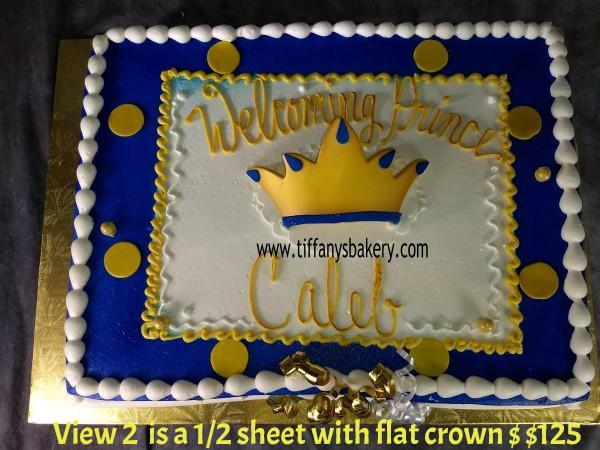 Crown Prince Baby Shower Tiffany S Bakery