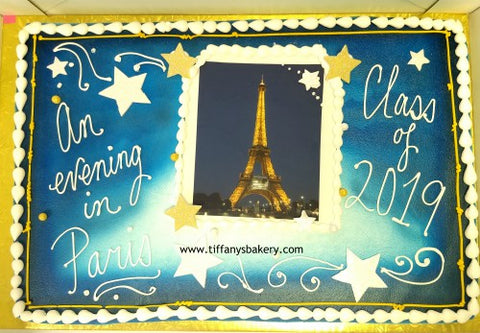 Prom Evening in Paris with Eiffel Tower Edible Image Layon