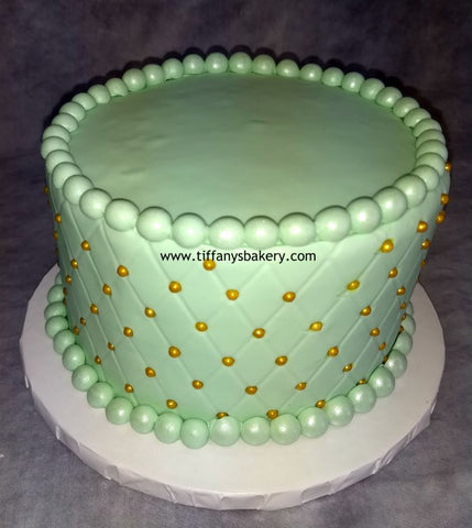 Fondant Covered Diamond Quilted Round Cake