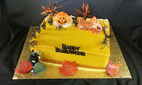 Halloween Double Layer 1/4 Sheet Cake