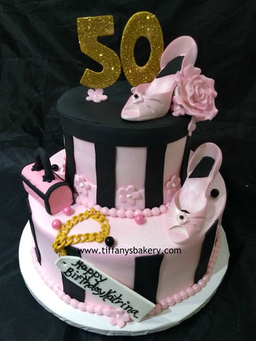 Celebration Tier Cake - Hatbox
