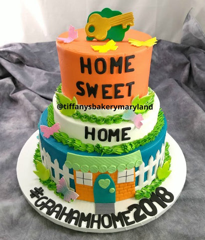 Housewarming Celebration Tier Cake