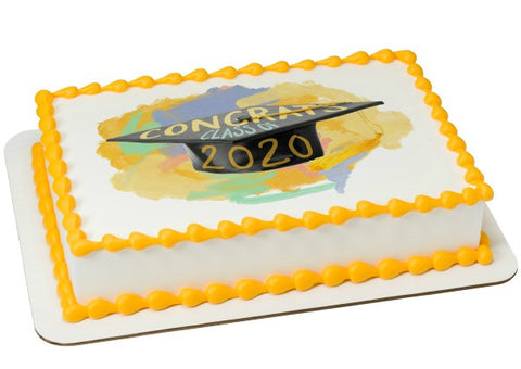 Grad 2020 Edible Image Layon Design #20451