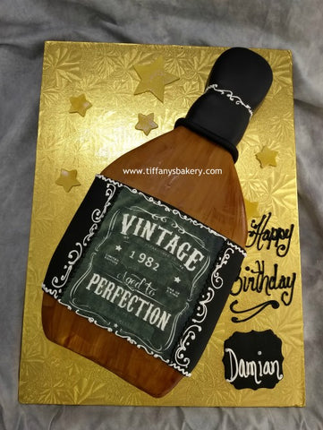 Liquor Bottle Cutout - Aged to Perfection