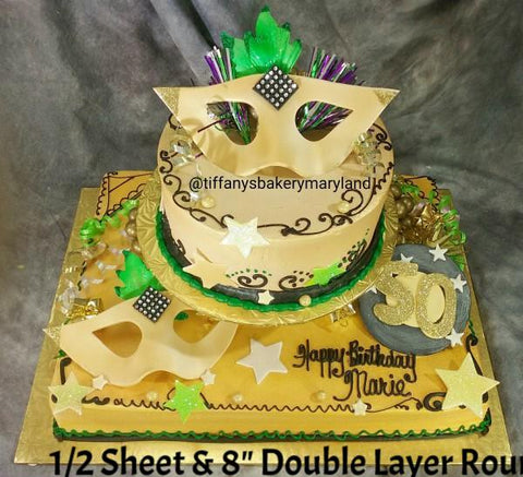 Golden Mask Sheet and Round Cake
