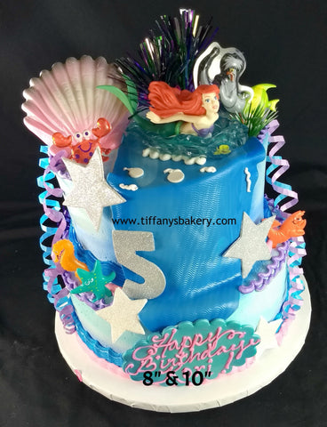 Little Mermaid Celebration Tier Cake