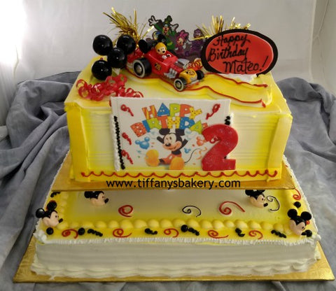 Double Layer 1/4 Sheet and Single Layer Half Sheet Cake