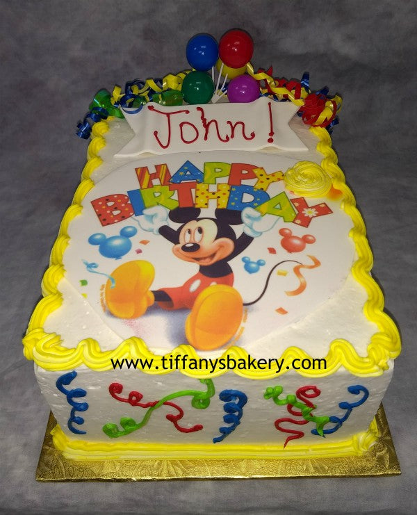 Mickey Mouse Double Layer 14 Sheet Cake Tiffanys Bakery