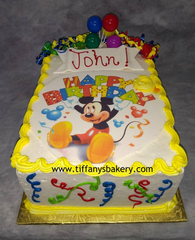 Mickey Mouse Double Layer 1/4 Sheet Cake