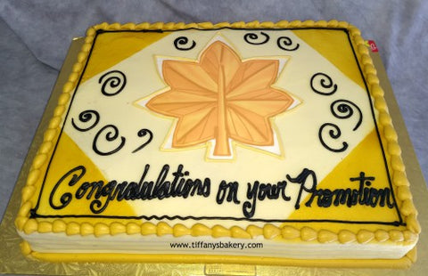Military Promotion Clover Rank Sheet Cake
