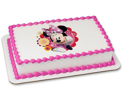 Minnie Dots and Daisies Edible Image Layon #8259