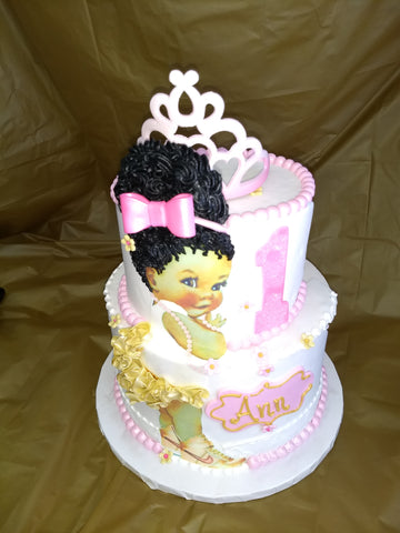 Miss Sassy Girl on Side of 2 Tier Celebration Cake