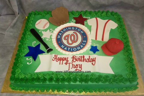Baseball Sheet Cake - Washington Nationals