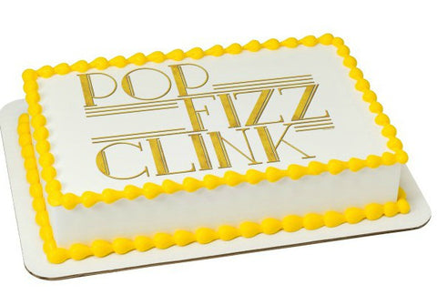 New Year Pop Fizz  Edible Image Layon #20390
