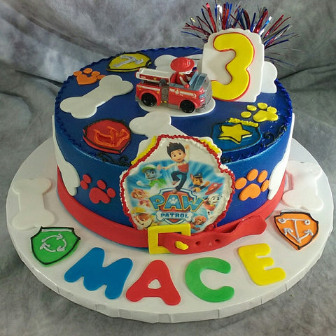 Paw Patrol on Round Cake