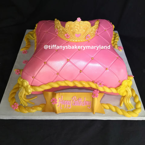 Pillow Sculptured Cake with Crown
