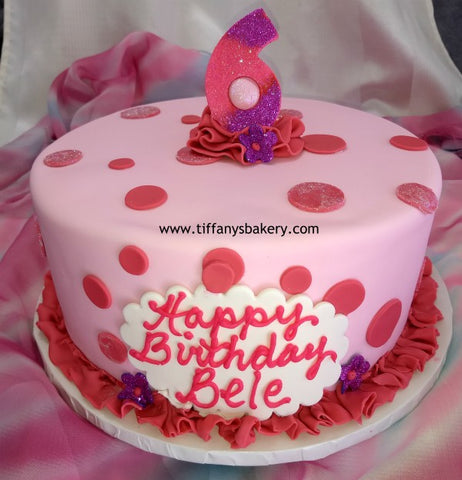 "Fondant Covered 10"" Round Cake"