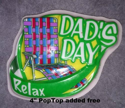 PopTop - Dad's Day, Relax  Sheet Cake Basic Budget