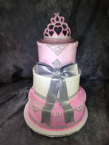 Three Tier Celebration Tier Cake with Bow