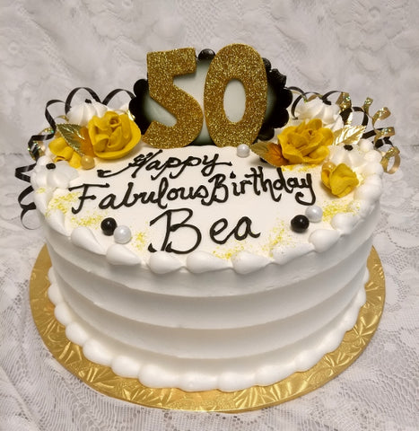 "50th Birthday - 8"" Round"