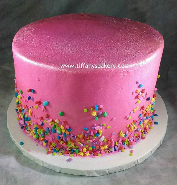 Fine Round Buttercream Frosted 8 Cake Tiffanys Bakery Funny Birthday Cards Online Barepcheapnameinfo
