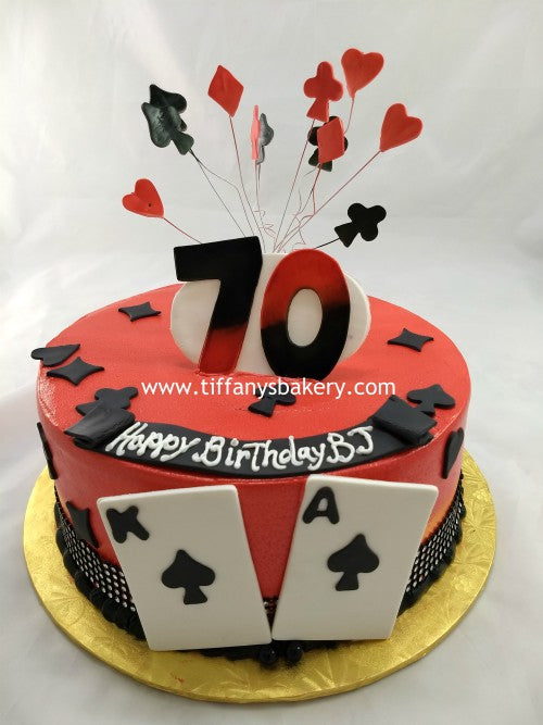 Playing Cards Round Cake Tiffanys Bakery