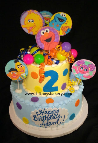 Sesame Street Characters  Celebration Tier Cake