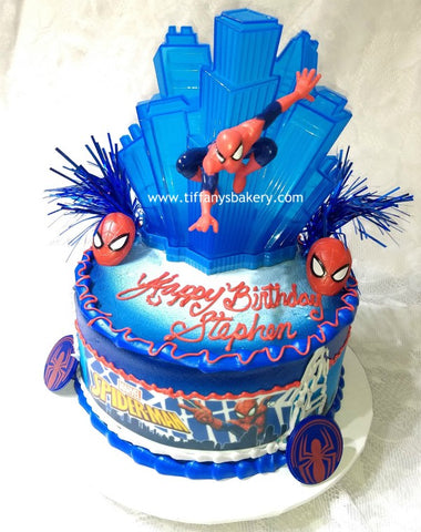 "Spiderman Figure Set on 8"" Round Cake"