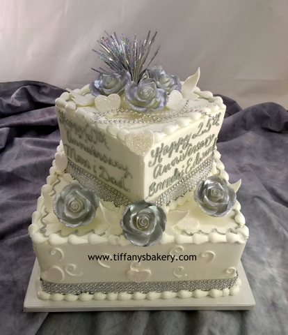 Square Celebration  Two Tier Cake