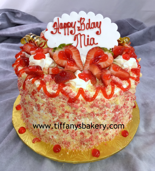 Stupendous Strawberry Shortcake Cheesecake Tiffanys Bakery Personalised Birthday Cards Cominlily Jamesorg