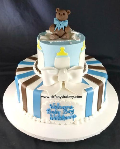 Teddy Bear Baby Celebration Tier Cake