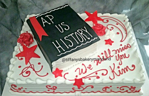 Graduation Sheet Cake with Book