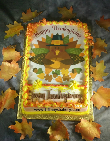 Thanksgiving Turkey  Edible Image Layon