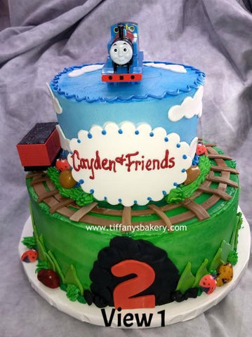 Thomas the Train Celebration Tier Cake