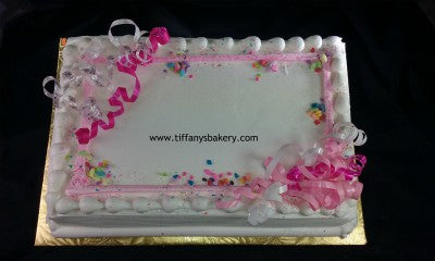 Sheet Cake with Colored Trim of Choice - Available Today