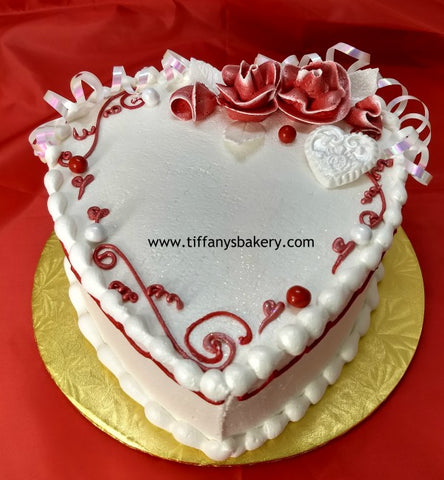"Heart Shaped 9"" two layer cake"