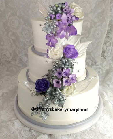 Flower Cascade Premier Wedding Cake
