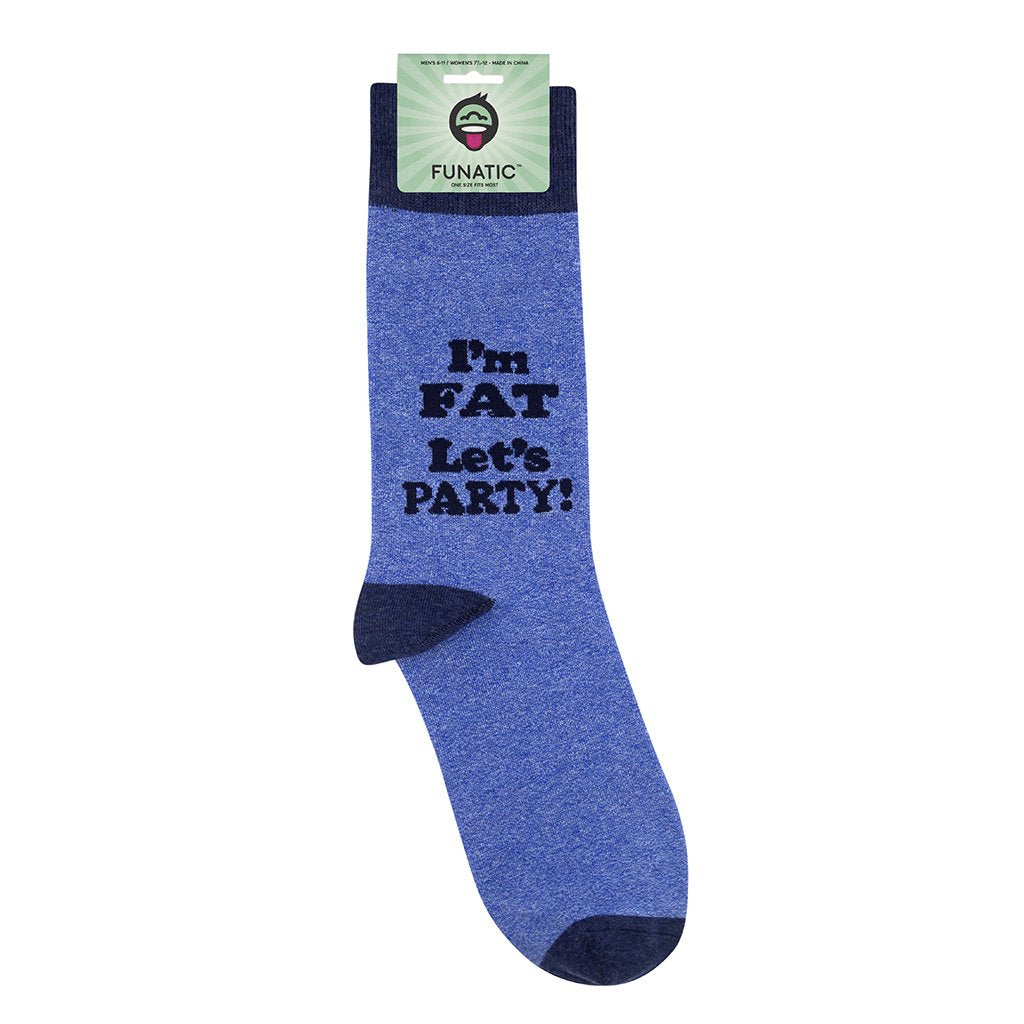 I'm Fat Let's Party Socks