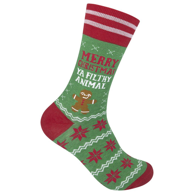 Merry Christmas Ya Filthy Animal Socks