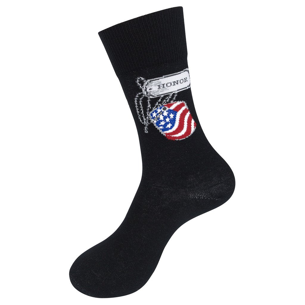 Honor. Respect. Remember. Veteran's Socks
