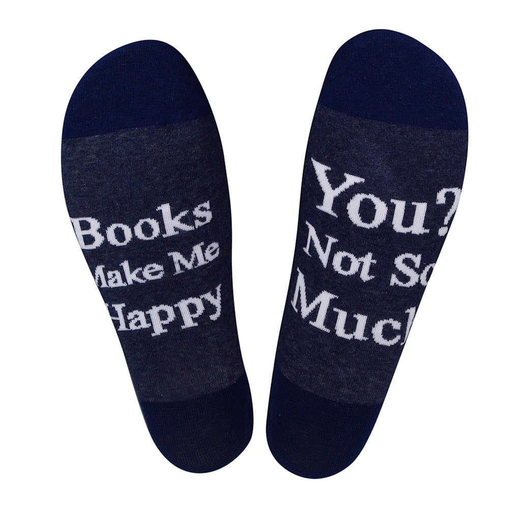 Books Make Me Happy - Word on the Bottom Socks