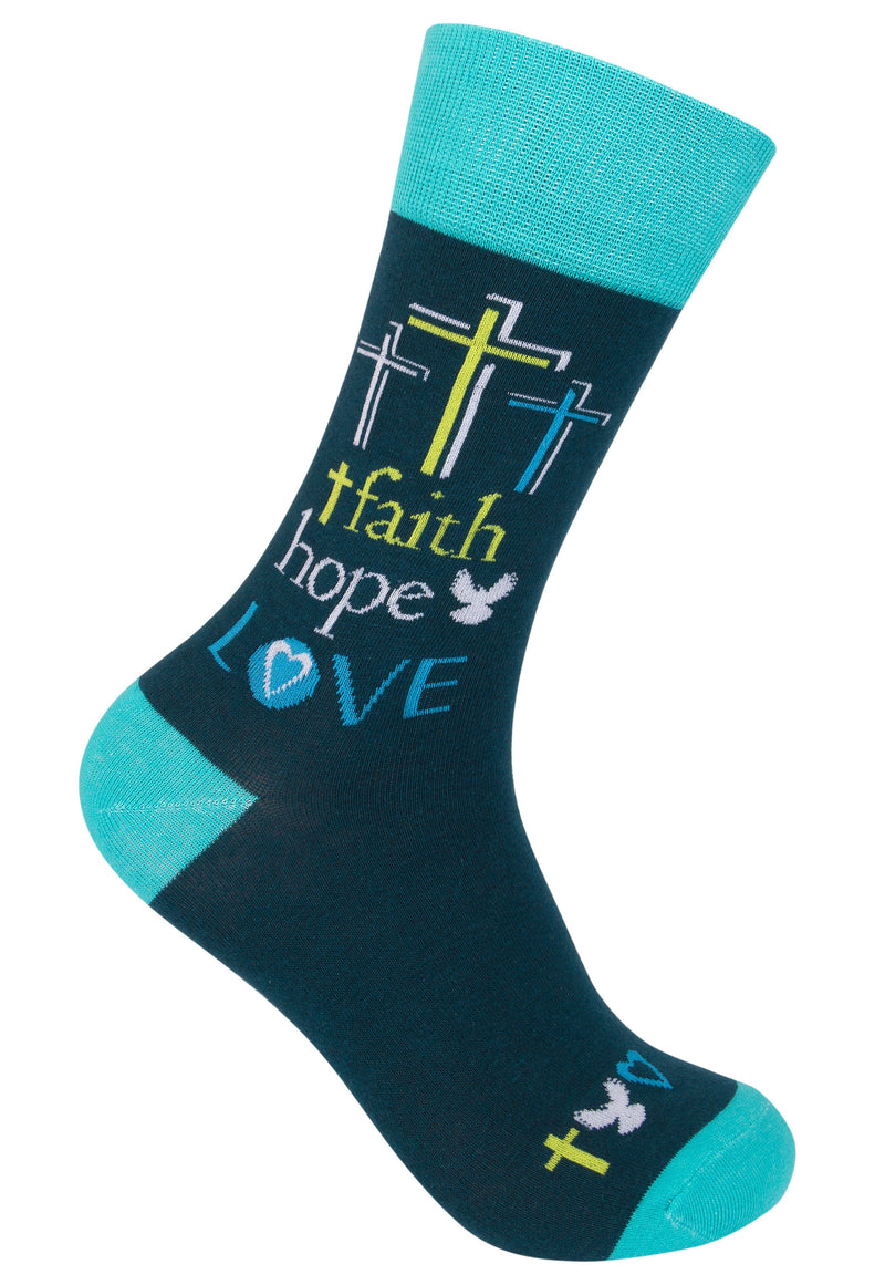 Faith Hope Love Socks