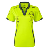 NEW Aston Martin Racing Ladies Lime Green Poloshirt