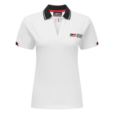 NEW Toyota TGR Ladies White Polo Shirt - Grandstand Merchandise