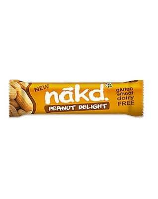 Näkd bar jordnød delight, 35 g - greenos