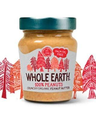 Whole Earth Crunchy Organic Peanut Butter - 227g