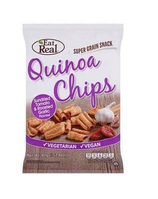 Eat Real Quinoa Tomat & Ristet Hvidløg Chips, 80 g. - greenos