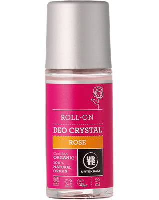 Urtekram Rose deokrystal roll-on øko 50 ml - GreenOS.dk